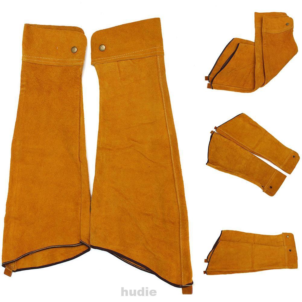Split Leather Welding Soldering Sleeves Protective Splatter Heat Arm Sleeve