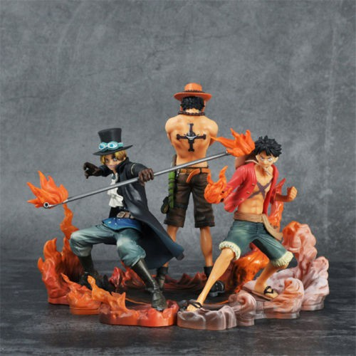 One Piece DXF Brotherhood II Luffy Ace Sabo PVC Action Figure Play Toy Doll 3Pcs