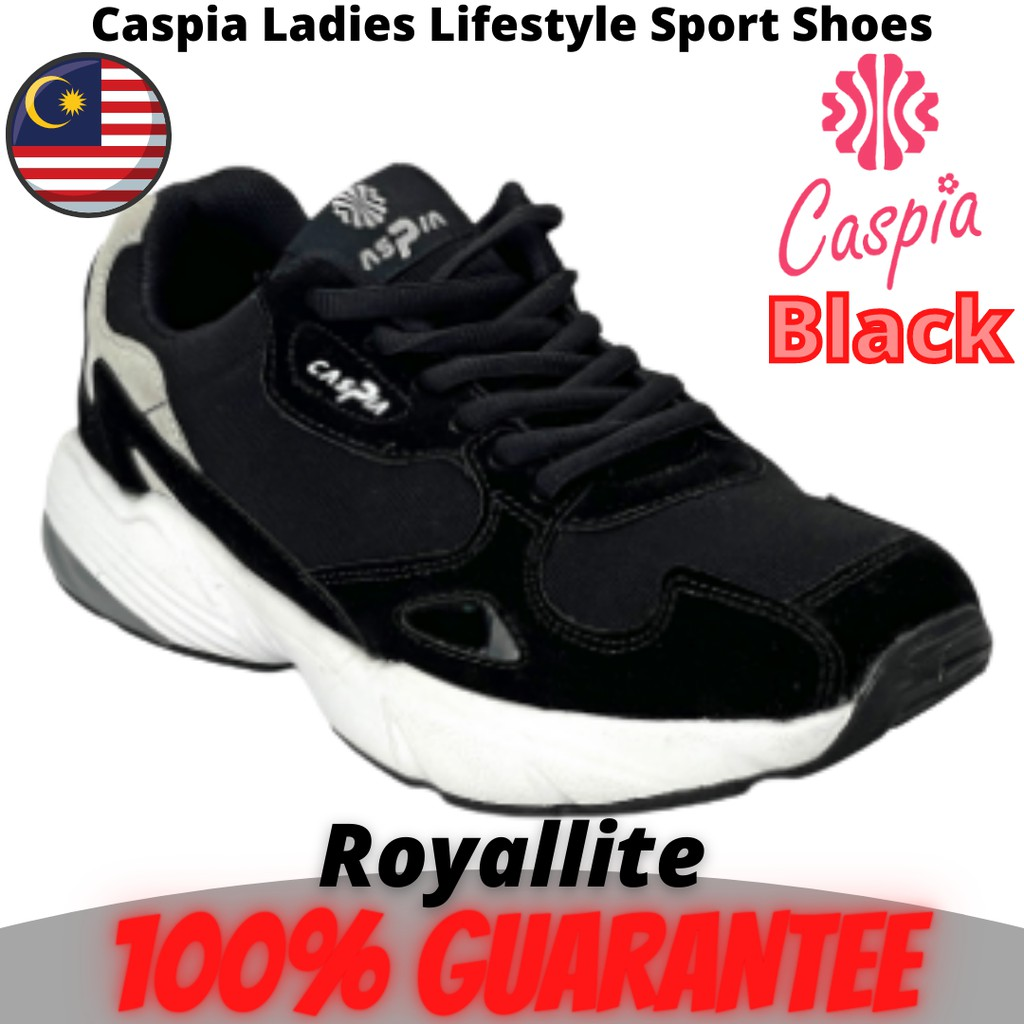 CASPIA LADIES Lifestyle SPORT SHOES THICK FOOT (CJS119-211) Black & Grey