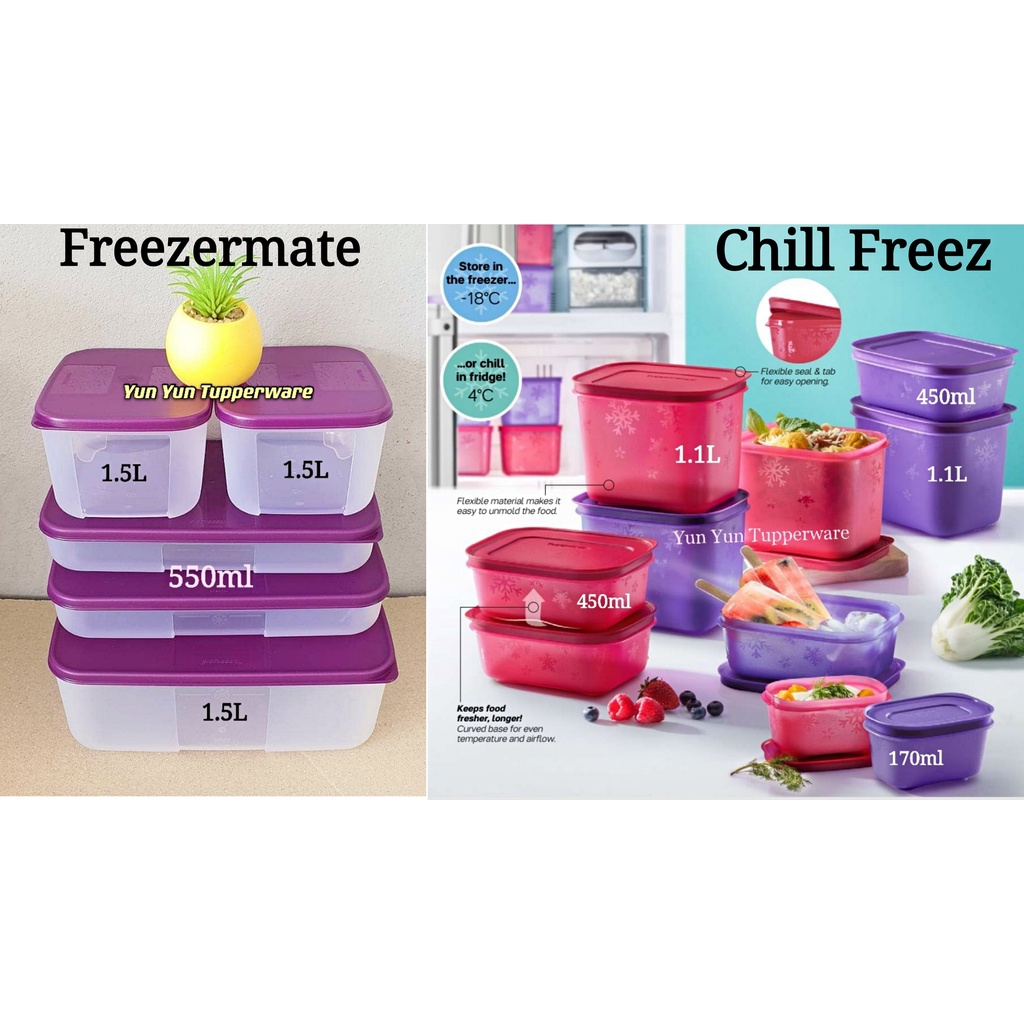 🔥HOT DEALS🔥Tupperware Freezermate Set / Chill Freez Set - 130ml / 290ml / 450ml / 650ml / 1.1L / 1.4L / 1.5L / 3.1L