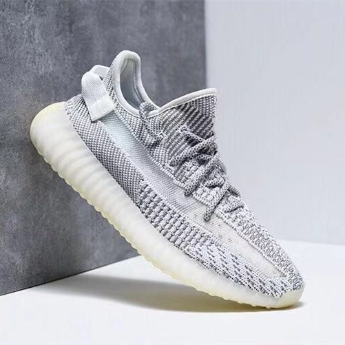 "wholesale dealer e03a8 cc4b4 Kasut Adidas Yeezy 350 Boost V2 ""Static"" 天使 women's shoes men running shoes  gray"