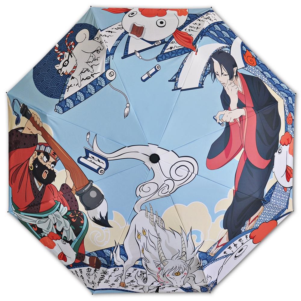 f5fed8895159 ghost light cold and goldfish folding dual-use umbrella uv umbrella