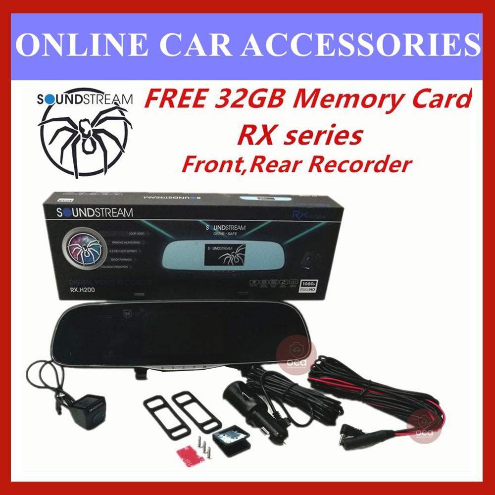 "Soundstream DVR 3.0"" LCD Display 1080P HD Car Front&Rear Driving Recorder Camera DVR RX.H200 (FREE 32GB Memory Card)"