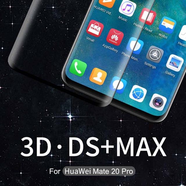 Nillkin ฟิล์มกระจกนิรภัย Huawei Mate 20 Pro รุ่น 3D DS+ MAX Fullscreen Tempered Glass Full Glue กาวสุญญากาศ