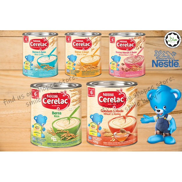 Nestle Cerelac Cereal 350g 500g 6months Beras Gandum Bijirin Soya Shopee Malaysia