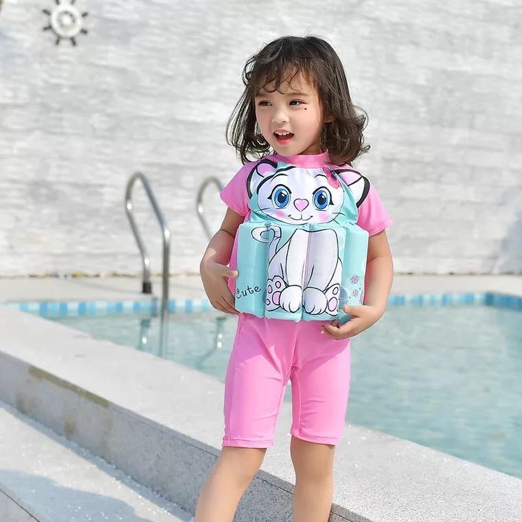 1bd6cd339d19 ProductImage. ProductImage. Children's Swimwear Girl One Piece Detachable Floating  Swimsuit Kids ...