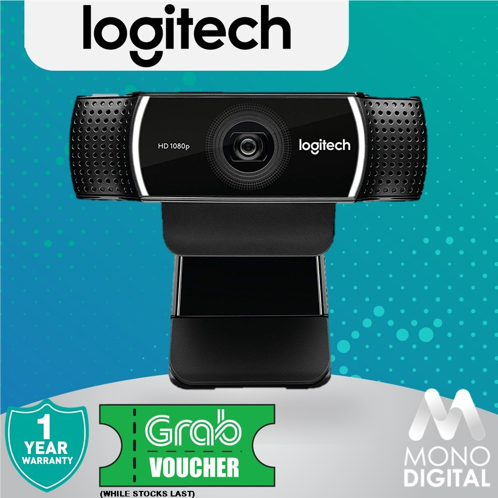 Logitech C922 Pro Stream Webcam (960-001090) (Free Grab Voucher)