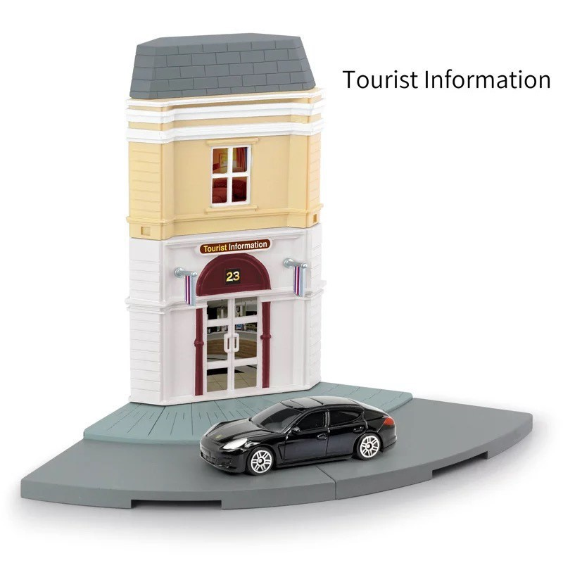 FTY RMZ 1:64 Inno Diorama Model Kits Tourist Information with Porsche  Panamera