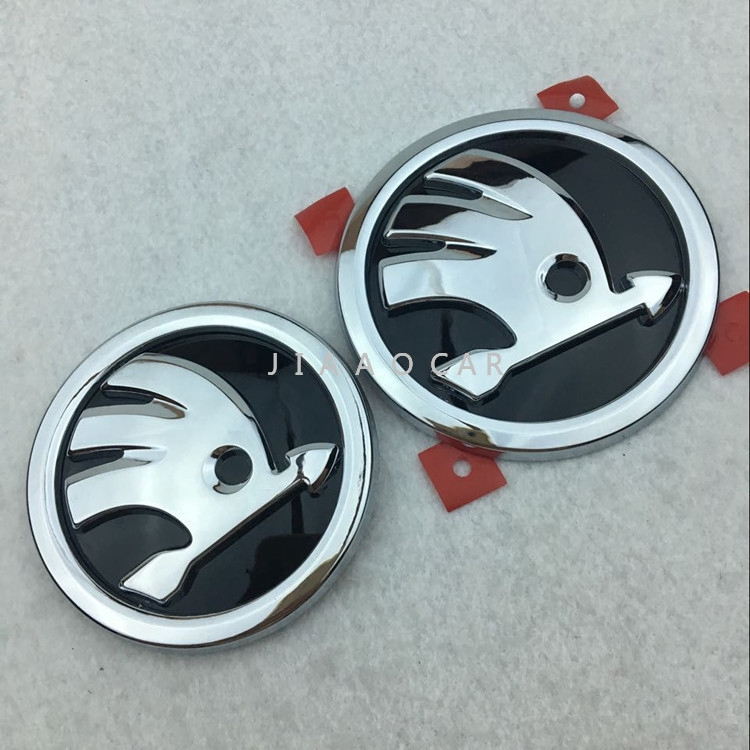 New Chrome Black Front Grille Grill Badge Logo 3D Emblem W//H Screw For DODGE