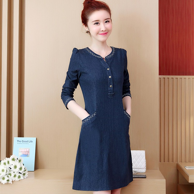 1c5d6acc0855c Women Elegant Casual one-neck collar sleeves casual single-breasted belt  dress | Shopee Malaysia