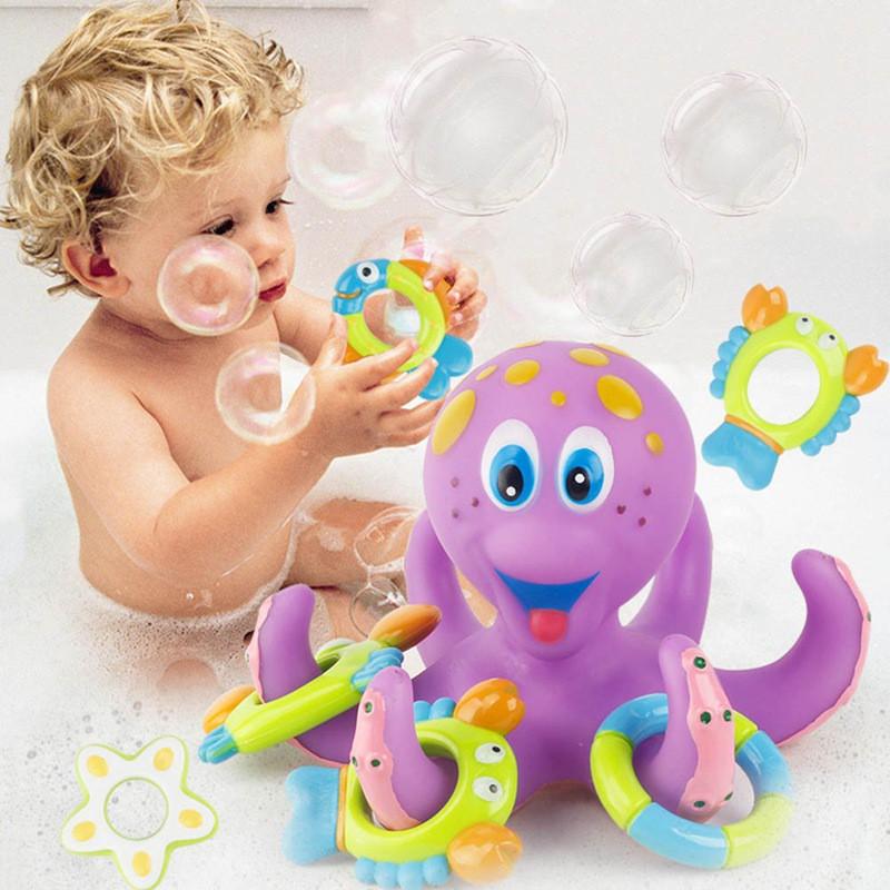 Nuby Octopus Floating Bath Toy Multi-Coloured