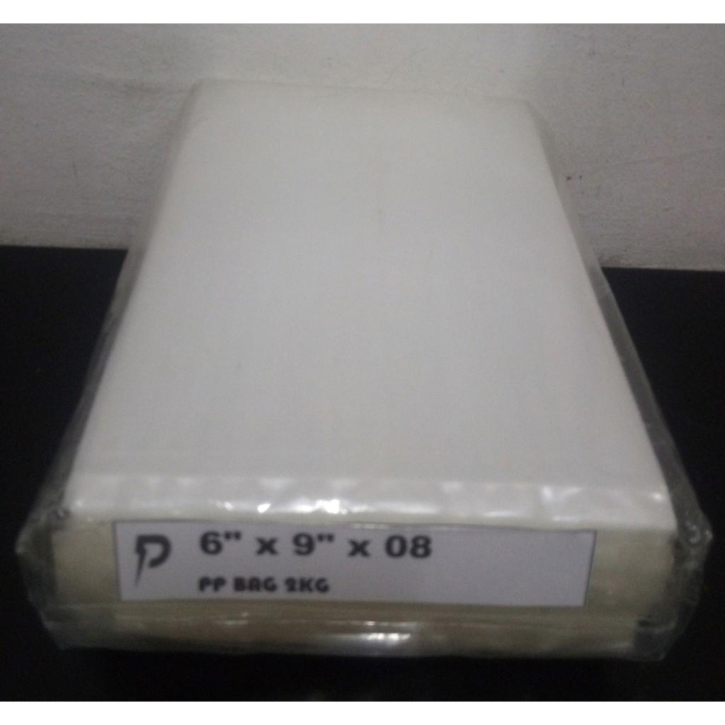 Clear PP 08 Plastic Bag / 6 x 9 inch Clear PP 08 (0.08mm) Plastic Bag / Thick PP Bag / Jenis Tebal / Pembungkus Kerepek