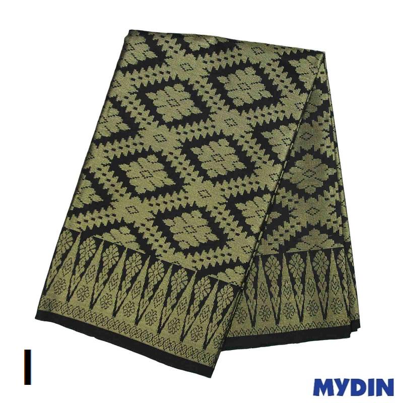 """Men Sampin - Gold on Black with Designs (2m X 32"""") 0819SRLXBP01 - I #Raya"""