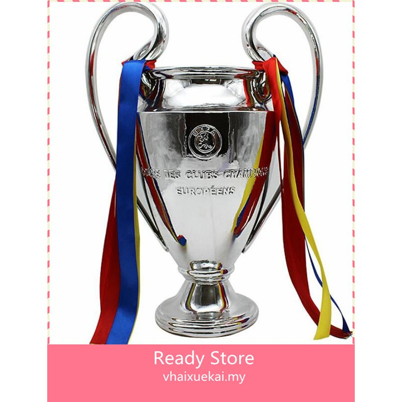 Ready Stock Figure Toys Uefa European Champions League Big Ear Cup Real Madrid Liverpool The Premier League Football Trophy Shopee Malaysia
