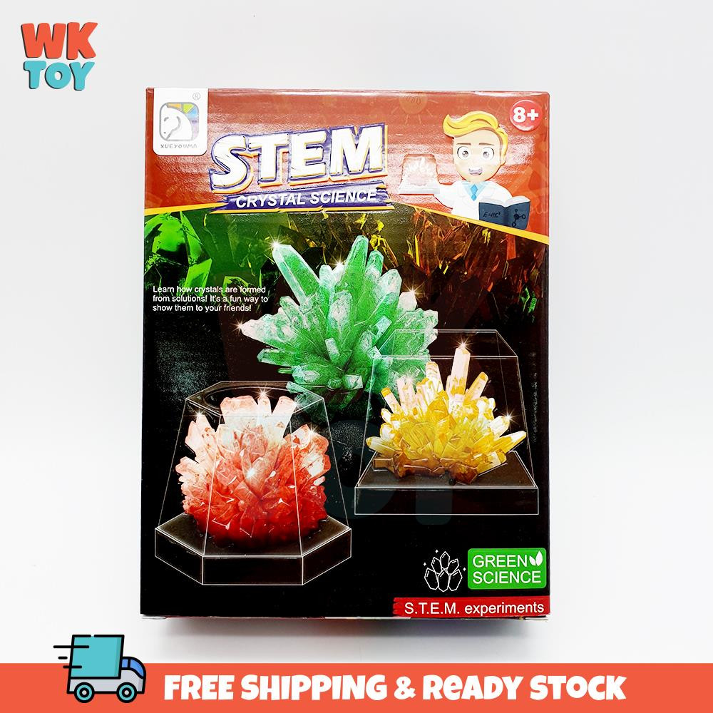 WKTOY DIY Crystal Growing Lab Crystal Growing Kit Funny Crystal Lab Science Kits Parent-child Interactive Toys