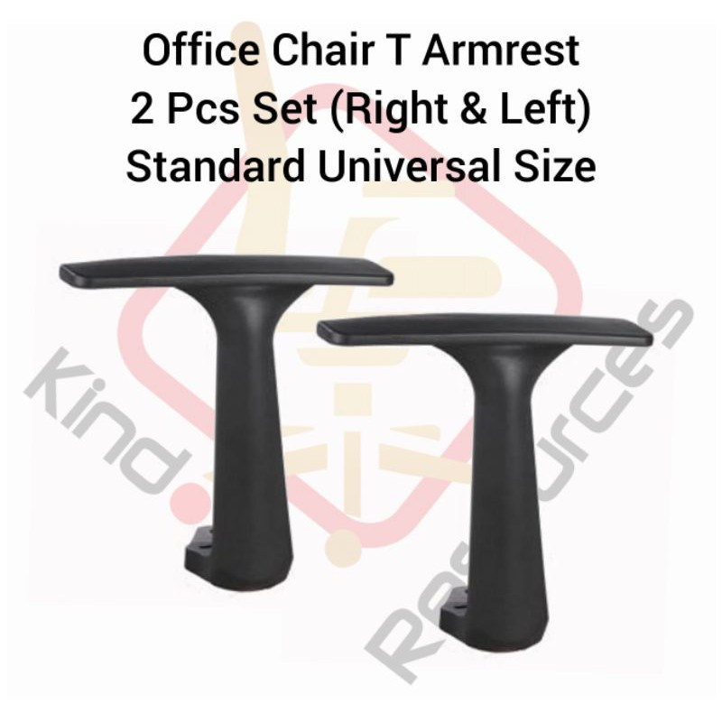 Office Chair T Arm Rest 1 Set Left + Right (High Quality) (Office Chair Wheel / Office Chair Sport Wheels /Office Chair)