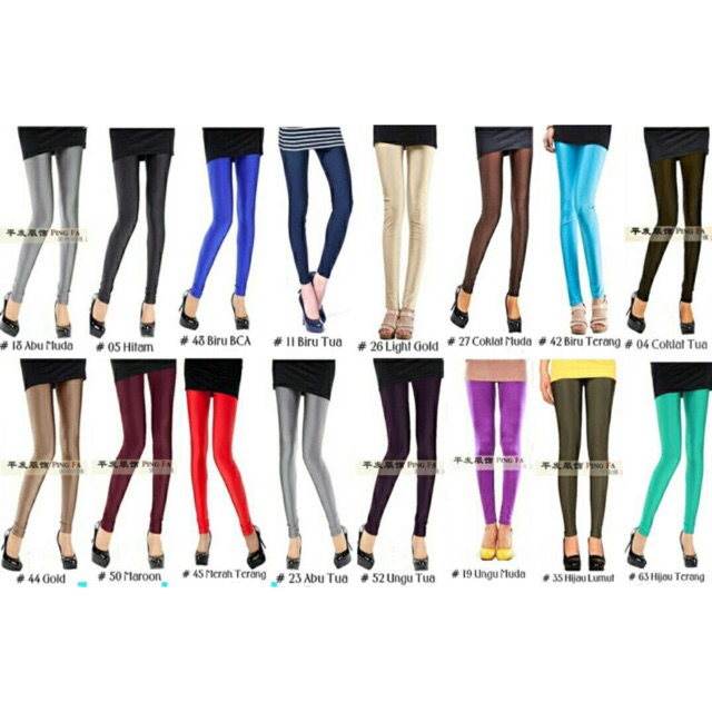 Lg03 Plain Legging Slick Women Plain Legging Women Long Sporty Sport Legging Shinny Women Shopee Malaysia
