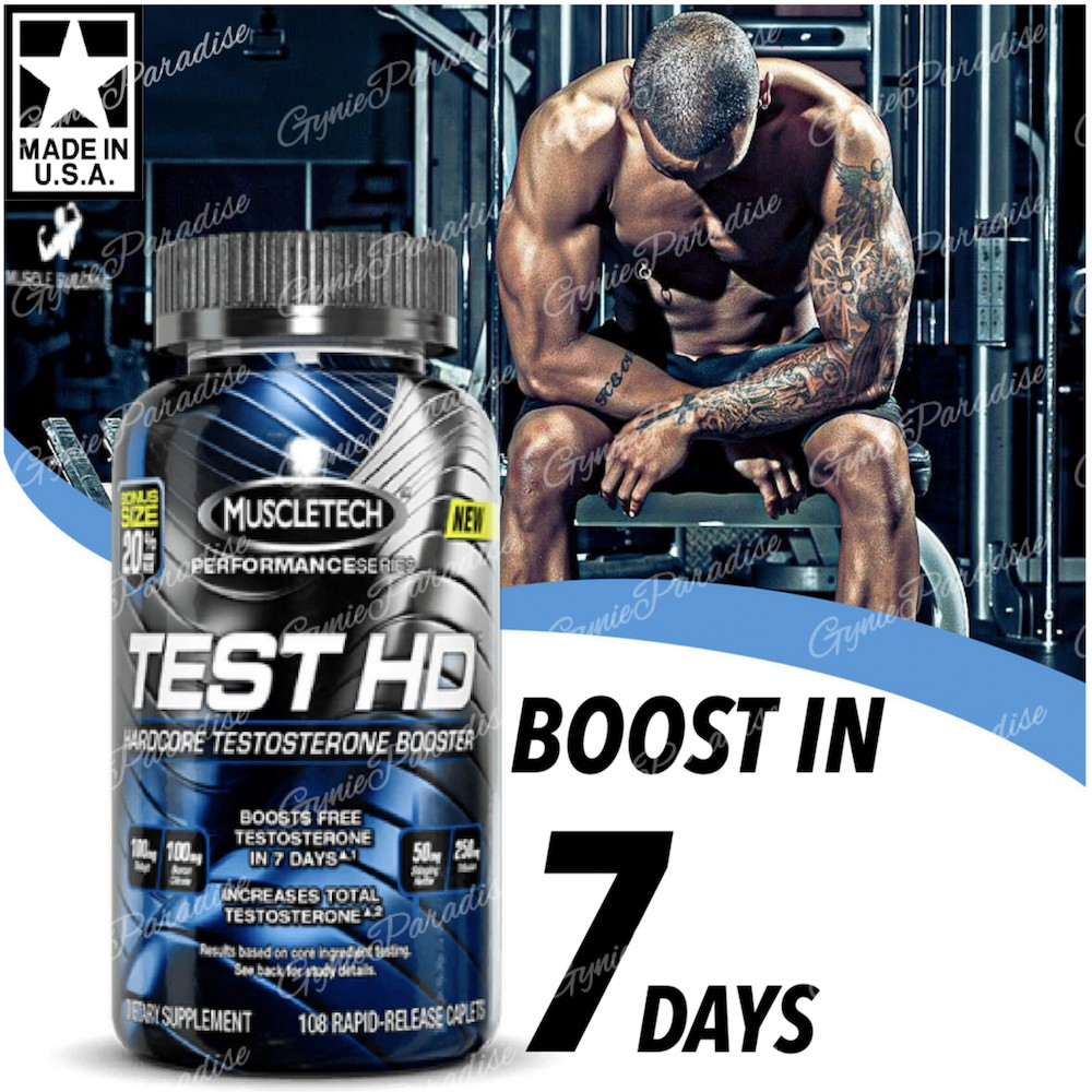 Muscletech Test HD testosterone booster, Rapid release (USA)