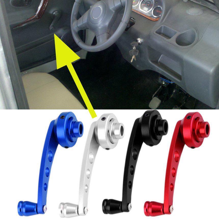 Pair Aluminum Black Universal For Car Window Winder Glass Door Handle Cranks