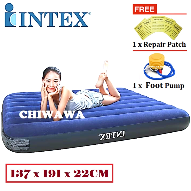 PROMOTION 64758  INTEX Inflatable Bubble Air Mattress Relax Massage Air Bed Sofa