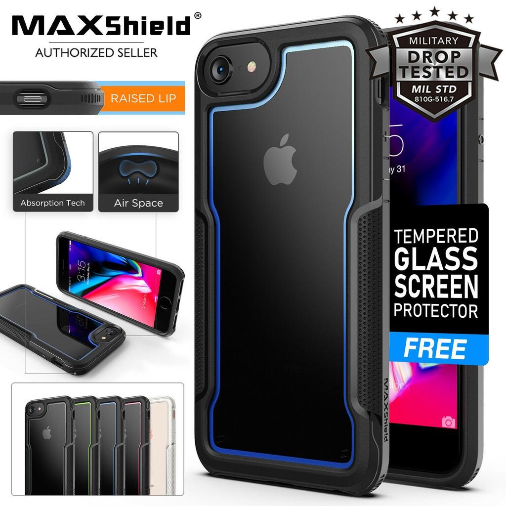 ORIGINAL MAXShield Hybrid Phone 6 7 8 Plus IPhone Case Cover Casing Heavy  Duty