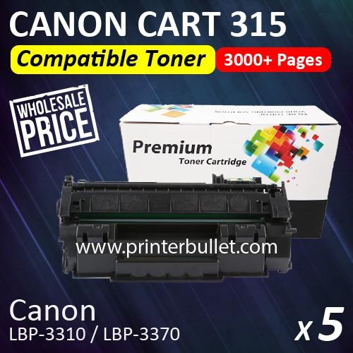 5 unit Compatible Canon 315 Black Toner Cartridge