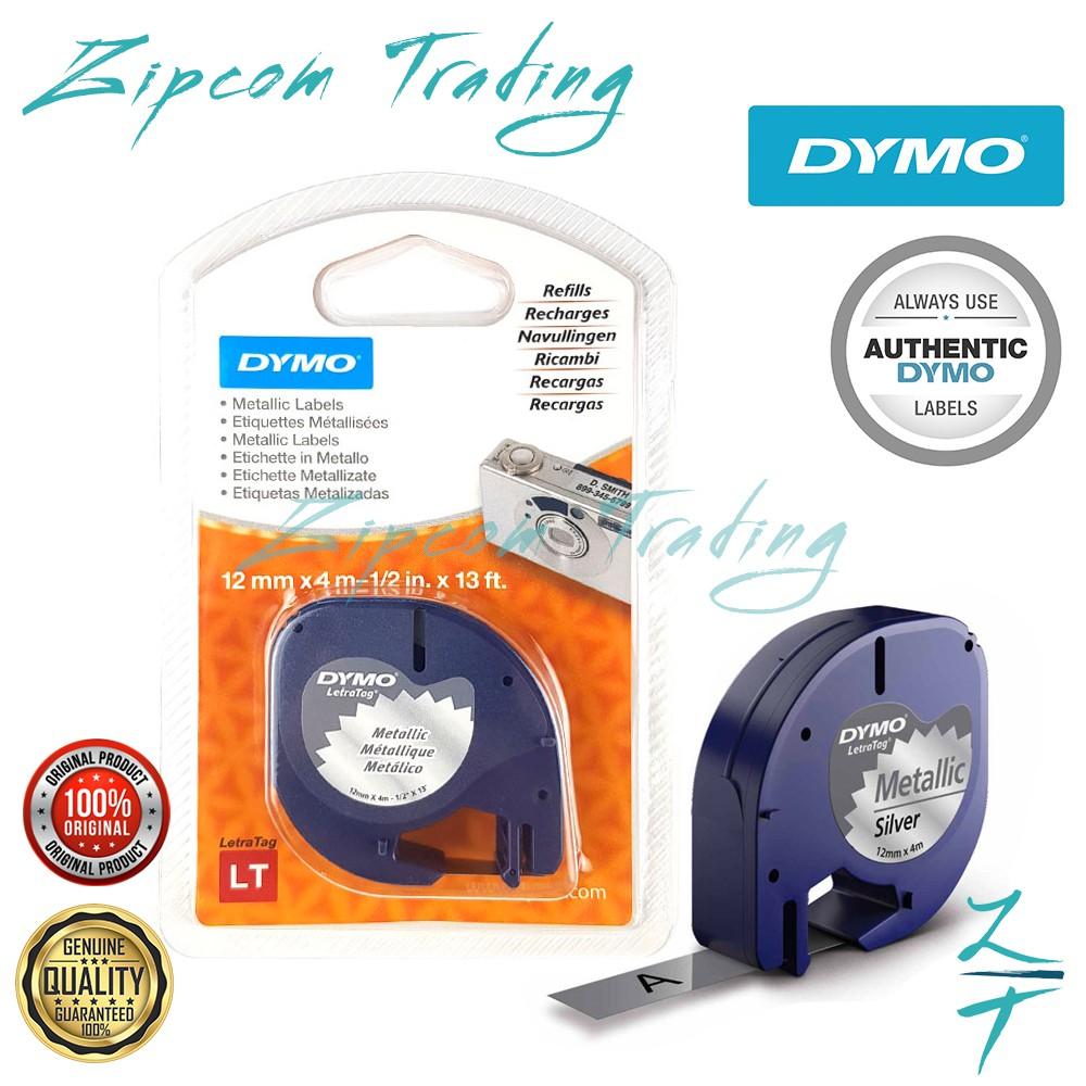 DYMO LetraTag Metallic Sliver Label Tape (12 mm x 4 m )