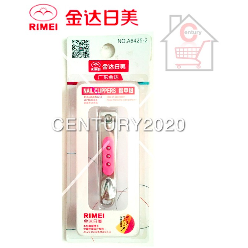 RIMEI Nail Clipper Manicure Care Nail Cutter High Grade Stainless Steel Nail Cutter A6425-2