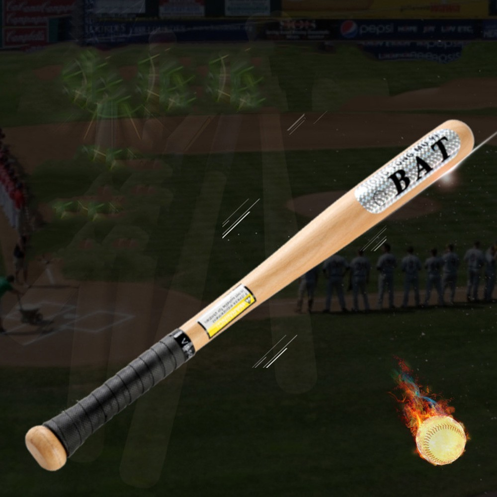 """Heavy Duty Wooden Baseball Rounders with or without Softball Bat size 25/"""""""