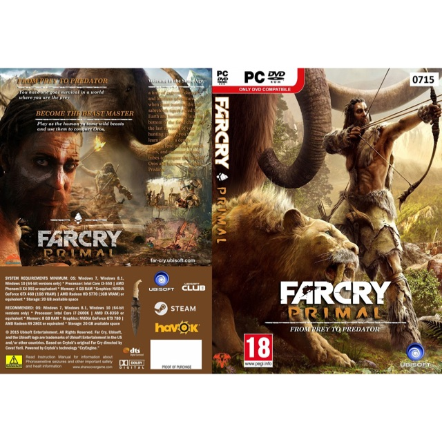 Pc Far Cry Primal Apex Edition Shopee Malaysia