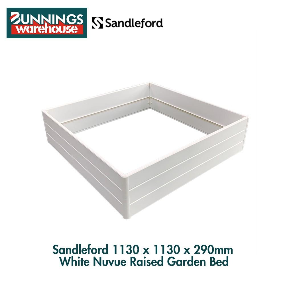 Bunnings Sandleford #0067496 1130 x 1130 x 290mm White Nuvue Raised Garden Bed