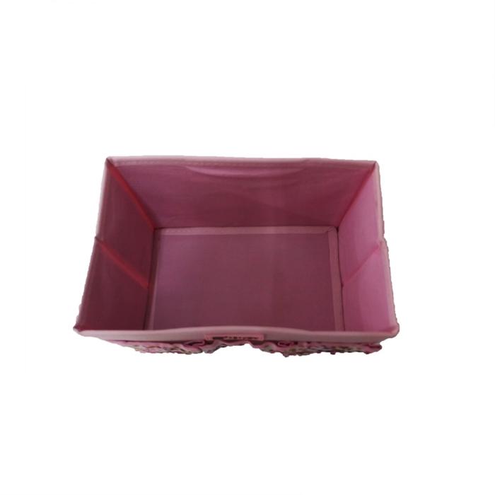 MALAYSIA: BEKAS ALAT TULIS/ BAKUL ALAT SOLEK / Non-Woven Cosmetic Storage Box - 3 Pocket