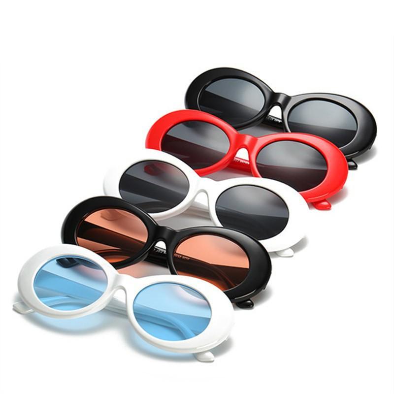 df7ae472f3 UVLAIK Clout Goggles NIRVANA Kurt Cobain Round Sunglasses For Women Mirror  Glass