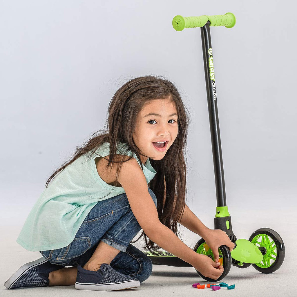 Yvolution Y Glider Deluxe Three Wheel Kick Scooter For Kids