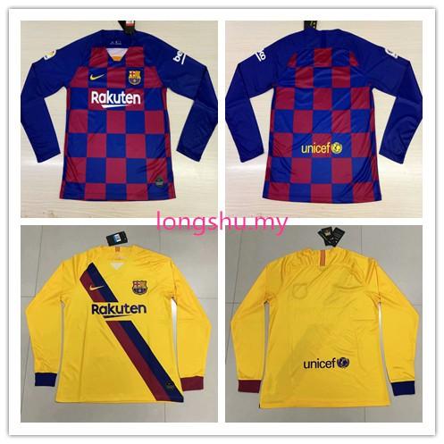 brand new eaeb8 b350c 2019-2020 Barcelona home Away Long Sleeve Soccer Jersey Shirt S-XXXL