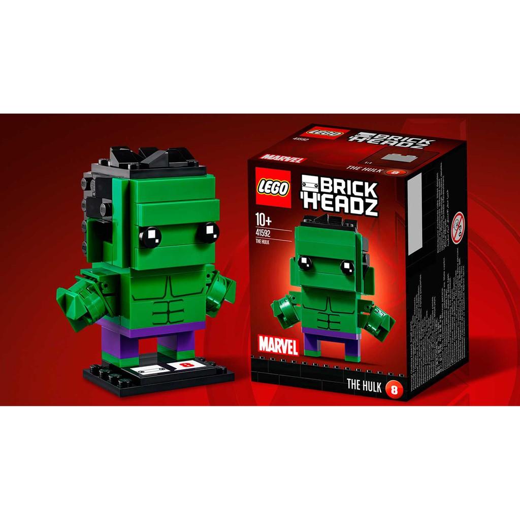 LEGO BrickHeadz 41592 Marvel The Hulk Building Toy