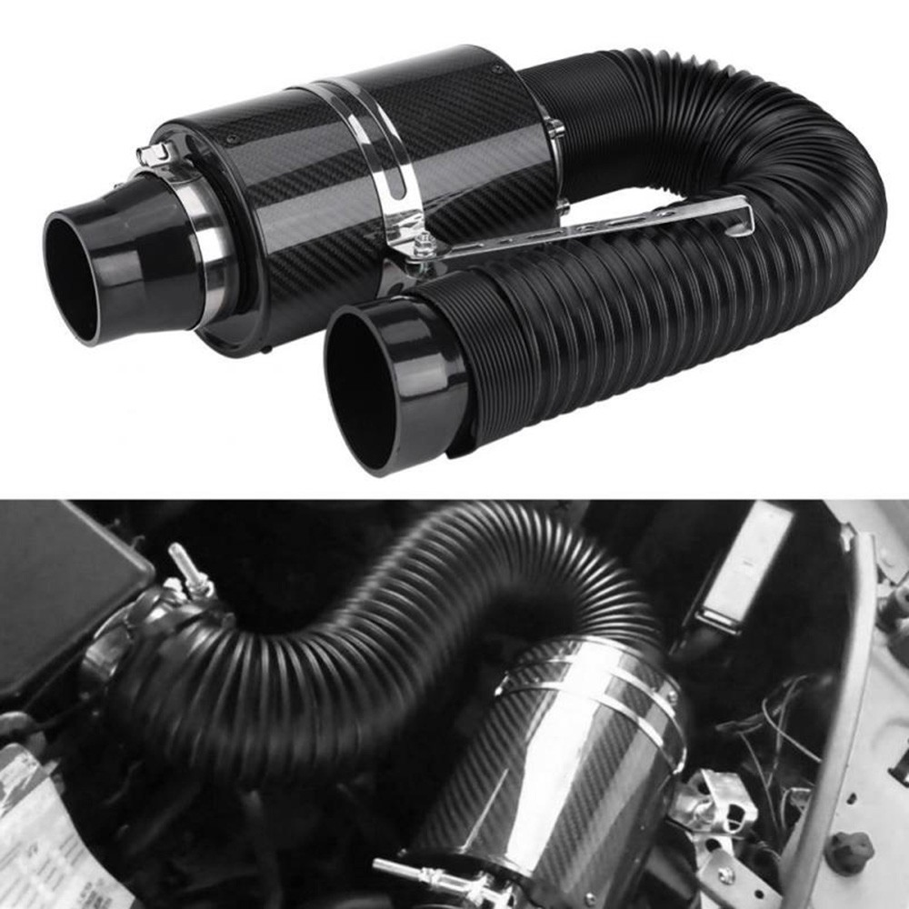 Cold Air Intake Induction Kit System Adjustable 3 Flexible Cold Air Cleaner Filter Intake Pipe Inlet Hose Tube Duct Kit