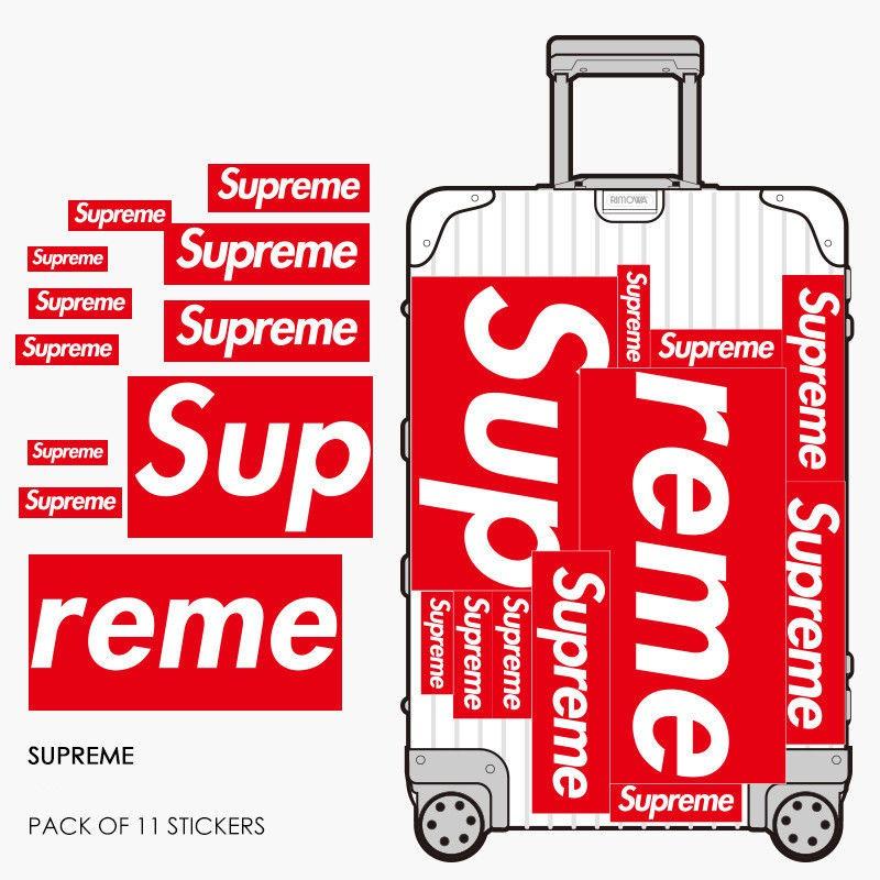Supreme 46 Pcs Sticker Graphic Decal Set Box Logo Waterproof Suitcase Laptop