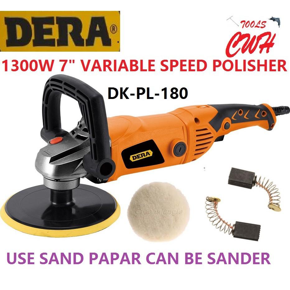 "DK-PL-180 1300W 7"" DERA CAR POLISHER WAXER WAXING POLISHING SANDER"