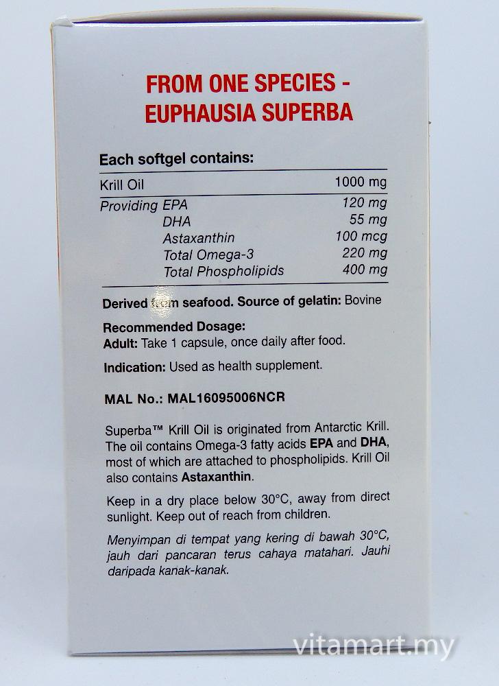 Vitamode Superba Krill Oil 1000mg 30 S Omega 3 Shopee Malaysia