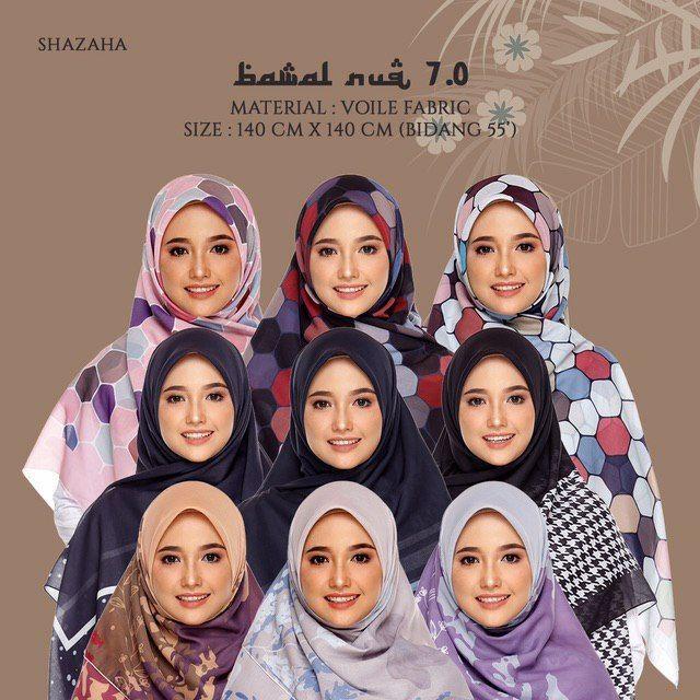 TUDUNG BAWAL NUQ 7.0 SHAZAHA | BIDANG 55