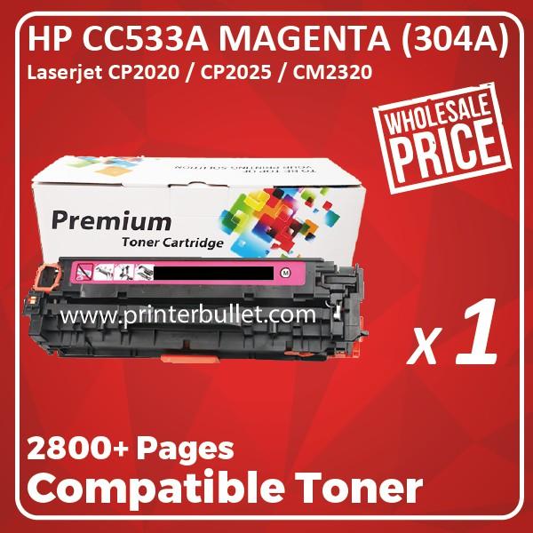 HP 304A CC533A Magenta High Quality Compatible Toner Cartridge