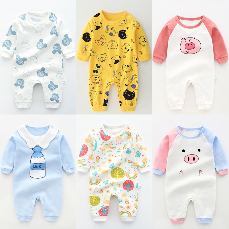 Got Milk Baby Boys Girls Cute Animal Cartoon Rompers One-piece Cotton New Born