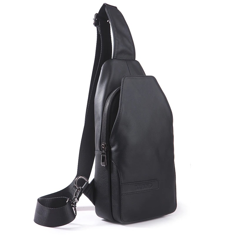 f21a0b83a727 Top Quality Genuine Leather Men Sling Chest Day Pack Casual Crossbody Bag  Fashion Trending Shoulder Messenger Travel Bag