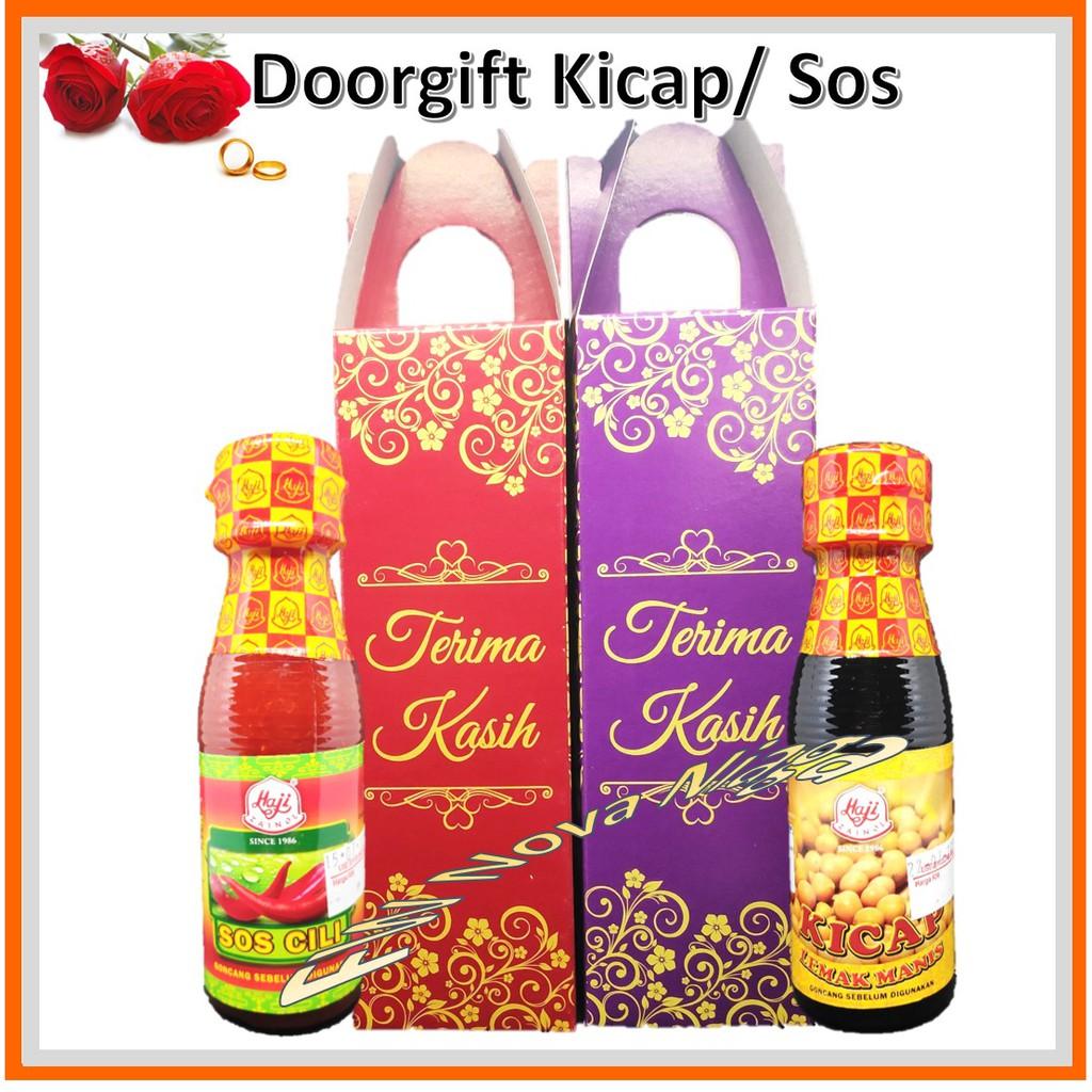 Doorgift Kicap / Sos Cili 150g Jenama Haji - Siap Kotak - Wedding, Akikah, Khatan, Kesyukuran, Nikah Kahwin