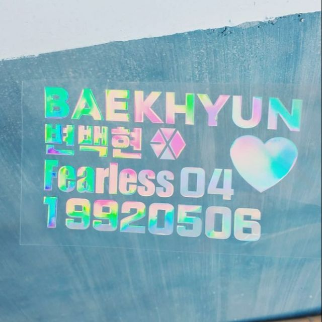Exo Kpop hologram sticker Aeribong laser holographic decals suho lay xiumin  d o