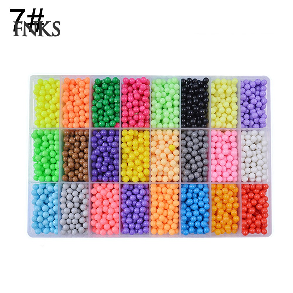 24 Grids DIY Magic Aqua Sticky Beads Art Craft Set Toy Gift for Children Kid