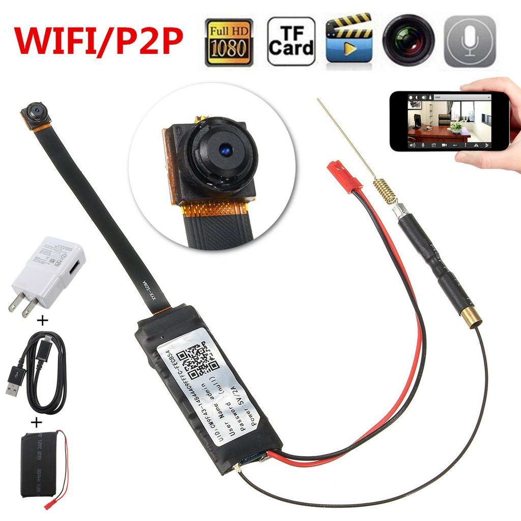 1080p Mini Wireless Wifi Ip Hd Spy Camera Diy Module Hidden