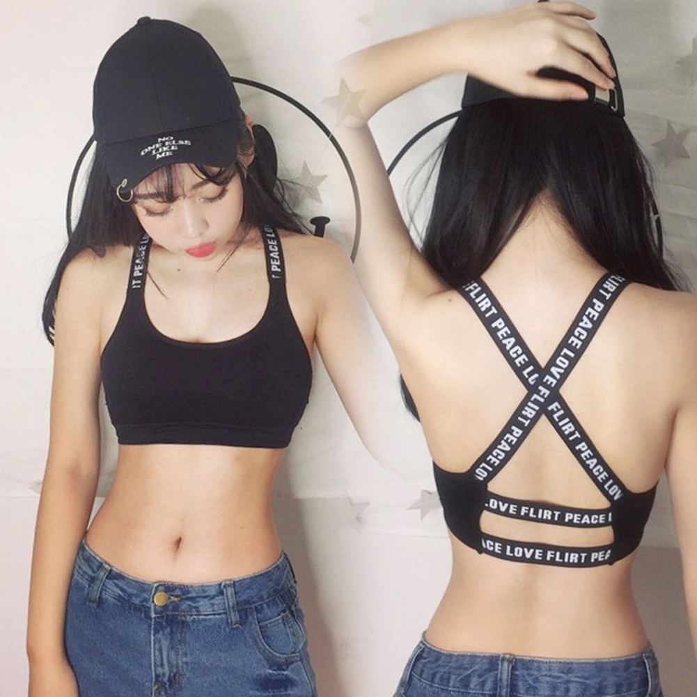 afb7bd7a46f Sexy Vest Corselets Back Hollowed-Out Inner Strap Crop Top Bandeau Tube Top  Bus