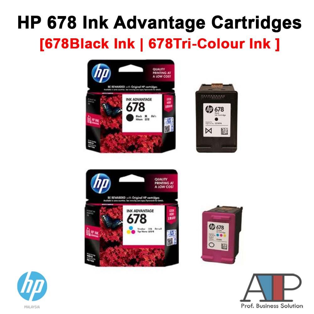 Hp 680 Tri Color Original Ink Advantage Cartridge F6v26aa Shopee Malaysia